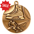 "Medalj RETRO präglad ""Hockey"" 40 mm Ø"